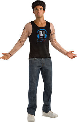 Jersey Shore Pauly D Costume Shirt w Printed Tattoos Fits 44-46 Jacket Size New](Jersey Shore Costume)