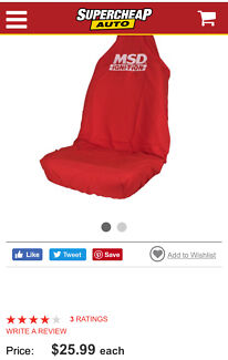 MSD Car Seat Cover - Red, Built-in Headrest, Size 60 SLIP ON
