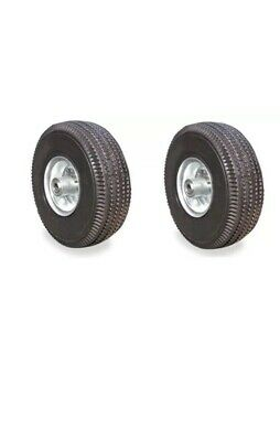 2 New Pneumatic 10 Air Tires 4.103.50 Hand Truck Wheels With 58 Id 4 Ply