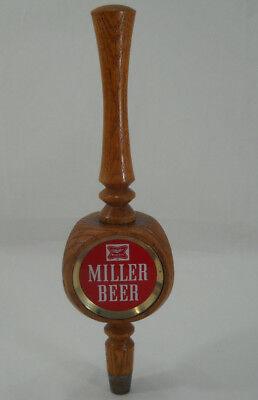 Vintage Miller High Life Red Wood Beer Tap Handle