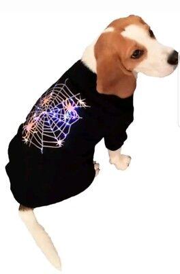 HALLOWEEN COSTUME~PET LIGHT-UP T-SHIRT LED BULBS & FLASH #skelfie NWT - Led T-shirt Halloween
