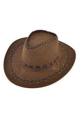 Herren Cowboyhut Jagd Verstellbarer Kinnriemen Kunstwildleder Hut (Hut Cowboy Wildleder)