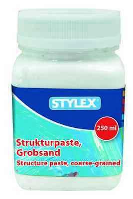 Strukturpaste grob 250 ml Dose Struktur Paste Effekt Grobsand Sand Grob! 250 Ml-dose