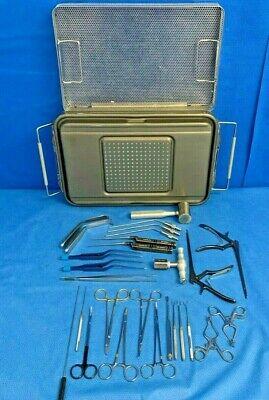 Codman V.mueller 27 Piece Anterior Cervical Instrumentation Set W Genesis Case