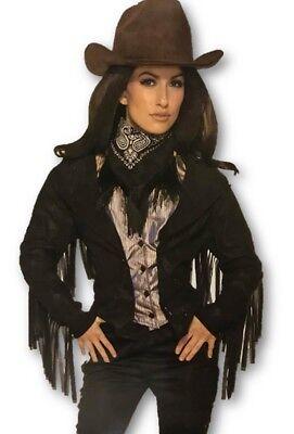 Western Costumes For Women (Vintage Western Badlands Bandit Outlaw Adult Women's Costume Jacket Vest)