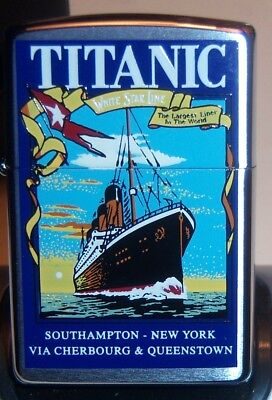 "ZIPPO"" TITANIC SHIP MINT IN  TIN  K  XVI"