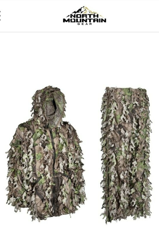 NORTH MOUNTAIN GEAR Wicked Woods Green Solid Shell Leafy Suit!!  SIZE-L!