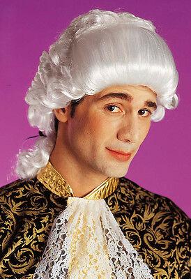 Herren Casanova Weiß Perücke Georgianisches Regentschaft Kostüm Period Hof Haare