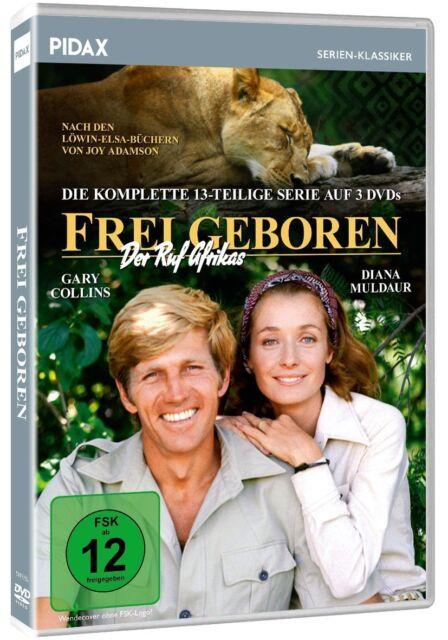 Frei geboren - Der Ruf Afrikas * DVD Serie Joy Adamson Löwin-Elsa-Bücher Pidax