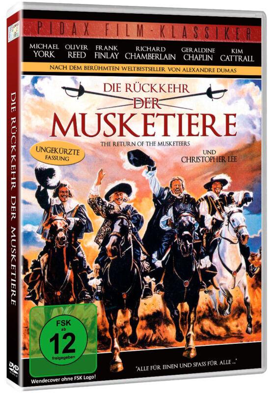 DVD - Die Rückkehr der Musketiere - Abenteuer Alexandre Dumas Pidax Film Neu