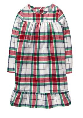 Gymboree Girls Cute Red & Green Plaid Nightgown Holiday Christmas Nwt 2017 S 5 6