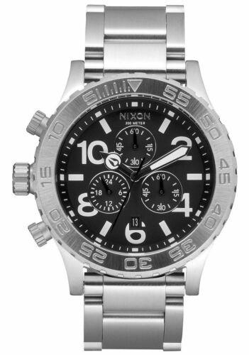 Nixon 42-20 Chrono Black Dial Silver ⓝⓔⓐⓣ 🆒  A037-000 42mm A037000 Watch