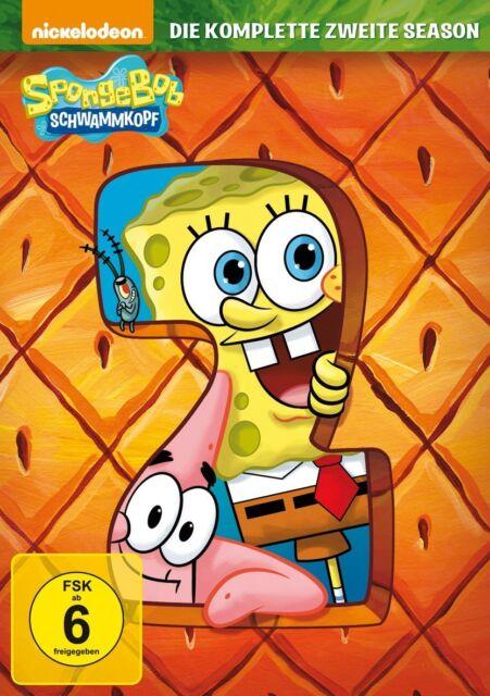 3 DVDs *  SPONGEBOB SCHWAMMKOPF - DIE KOMPLETTE ZWEITE 2. SEASON # NEU OVP =