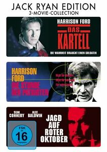 HARRISON-FORD-Sean-Connery-KARTELL-PATRIOTI-JAGD-AUF-ROSSA-OTTOBRE-Box-DVD