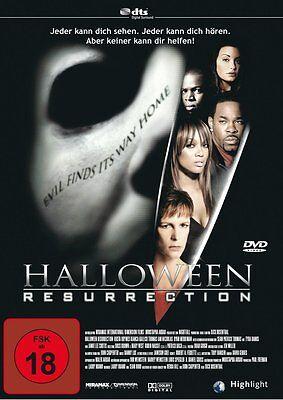 HALLOWEEN - RESURRECTION Jamie Lee Curtis 2002 DVD Neu (Jamie Lee Curtis Halloween Resurrection)