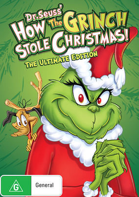 How THE GRINCH Stole Christmas+Cat In Hat+Halloween DVD Dr. Seuss' BRAND NEW - Grinch Halloween