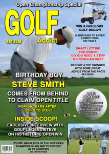Personalised Mens Golf Birthday Card Spoof - Any Name/Age/Message