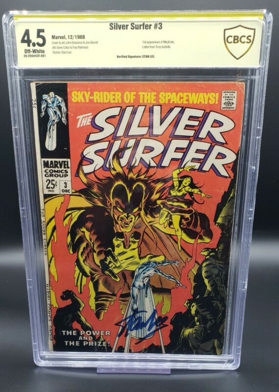 Silver Surfer #3 CBCS 4.5 1st Appearance Mephisto - Signed by Stan Lee (1968)