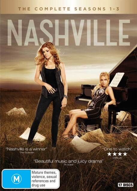 Nashville the Complete Series seasons 1, 2 & 3 DVD Box Set R4 New & Sealed