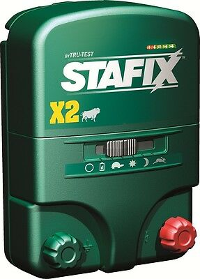 Stafix X2 Energizer 20 Mile Fence Charger. Acdc Powered 80 Acres