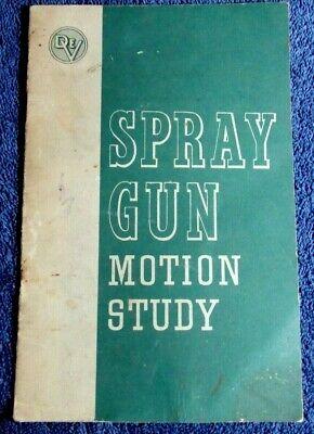 1954 Devilbiss Company Spray Gun Painting Motion Study Manual