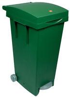 Bidone Pattumiera Verde Con Ruote E Pedale Apertura Coperchio 80 Lt 50008 -  - ebay.it