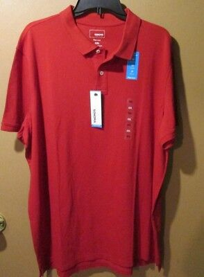 Sonoma polo shirt flex wear stretch breathable soft Mes XXL Red 8-168A