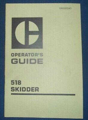 Cat Caterpillar 518 Skidder Operation Operators Guide Book Manual