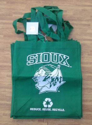 North Dakota Fighting Sioux Green Reusable Bag ~ Grocery Reduce Reuse Recycle