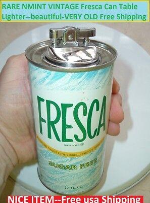 "1970s Coca Cola ""FRESCA"" Old Coke Can lighter (Japan) 70's Coke Lighter Coke N.Y"