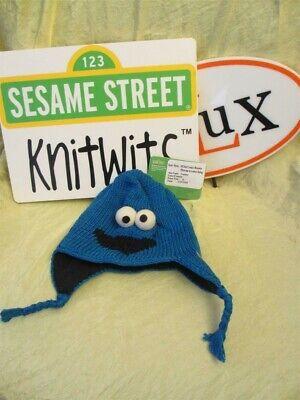 Cookie Monster Halloween costume 100% Cotton HAT kid cap Sesame Street deLux NEW