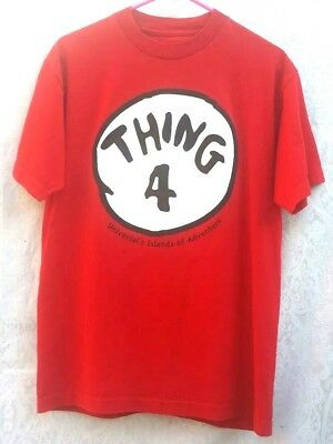 Thing 4 Red T-Shirt Size M Universals Islands Of Adventure Dr Seuss Halloween