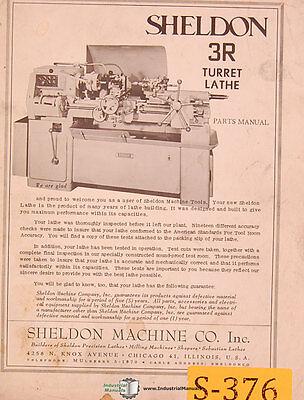 Sheldon 4T, Turret Lathes, Parts Lists Manual