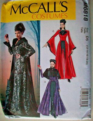 Evil Queen coat capelet necklace costume pattern 6818 uncut 12 14 16 18 20  (Evil Queen Costume Plus Size)