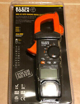 New Klein 600 Amp Ac True Rms Auto-ranging Digital Clamp Meter With Temp Cl700