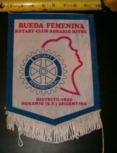 VINTAGE Rotary International Club  banner flag ROSARIO MITRE ARGENTINA