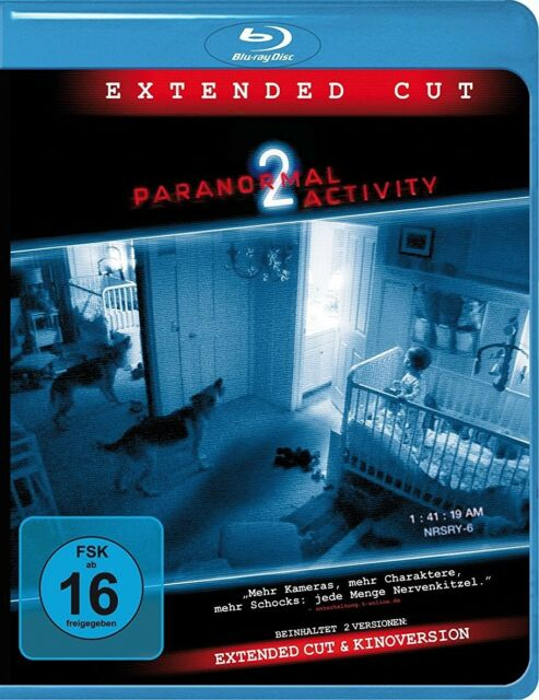 PARANORMAL ACTIVITY 2 (EXTENDED CUT)  BLU-RAY NEU  KATIE FEATHERSTON/+