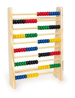 Wooden Abacus 10 Rows Maths Mathematics Aid Help Toy Fun (Fun Abacus)