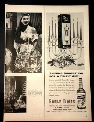 Life Magazine Ad EARLY TIMES Bourbon Whisky 1953 Ad for sale  Southbury