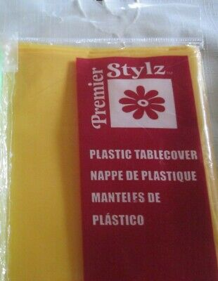 - PREMIER STYLE PLASTIC TABLECOVER IN  YELLOW*54