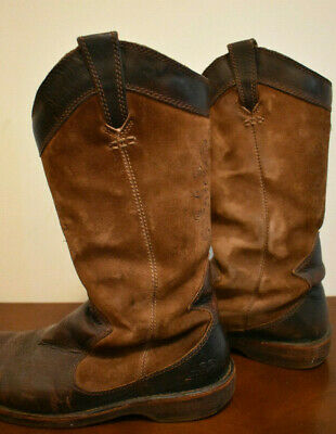 Rare UGG Womens Cowboy Boho Western Boots Leather Embroidered Suede Sz 8](Ugg Embroidered Boots)