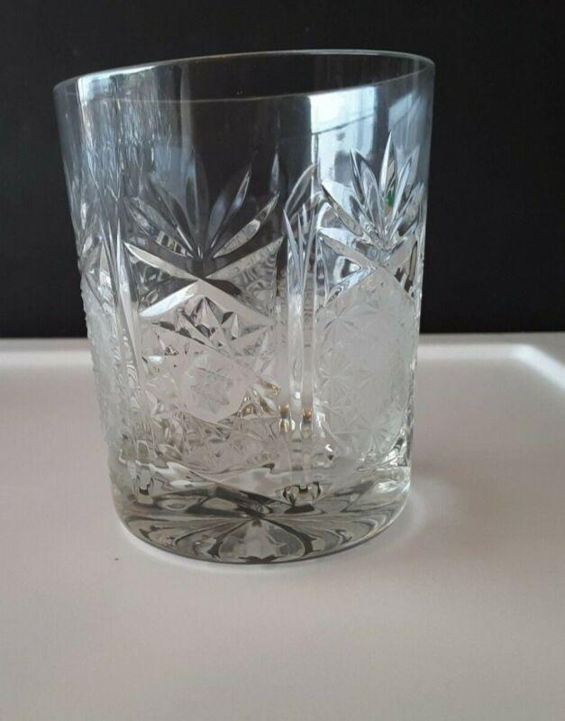 Set of 10 Cut Lead Crystal Hi-Ball Glasses
