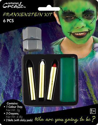 Halloween Party Frankenstein Face Paint 5 Piece Kit Fancy Dress Accessory - Frankenstein Halloween Face Paint