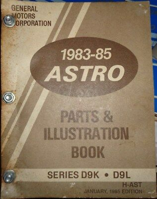 1983 thru 1985 GMC Chevrolet Truck Astro Parts Illustration Book Catalog  1983 Gmc Truck Parts