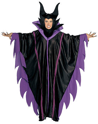 Sleeping Beauty Witch Costume (MALEFICENT COSTUME LADIES SLEEPING BEAUTY WITCH FANCY DRESS OUTFIT HALLOWEEN)