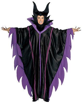 MALEFICENT COSTUME LADIES SLEEPING BEAUTY WITCH FANCY DRESS OUTFIT HALLOWEEN NEW (Sleeping Beauty Fancy Dress Kostüme)