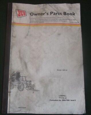 Jcb 540-le Loadall Rough Terrain Forklift Parts Manual Book Catalog