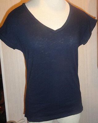 Ladies Navy Blue Short (Ladies Joe Fresh Navy Blue V-Neck Short Sleeve T-Shirt Sizes XS, S, M, L, XL, 2X )
