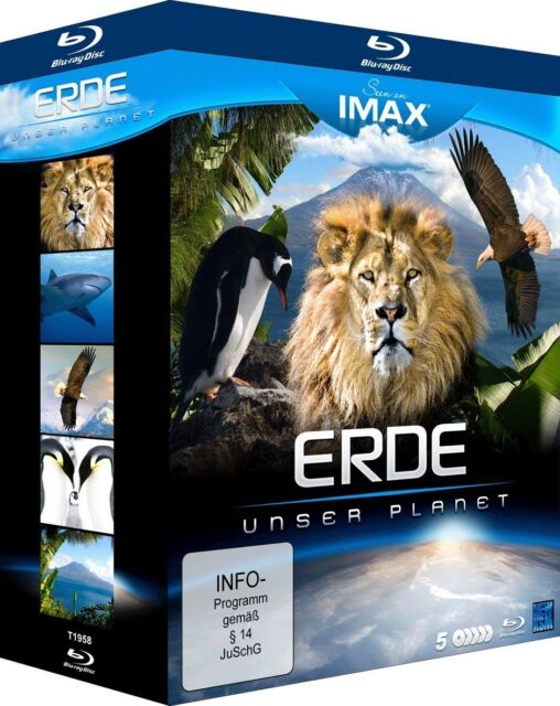 BLU-RAY  - SEEN ON IMAX - ERDE - UNSER PLANET - 5 DISC EDITION    - NEU/OVP