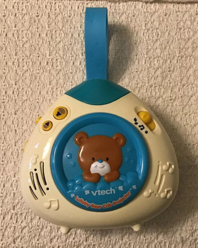 VTech Lullaby Bear Crib Projector - Plays 28 Melodies, Nature Sounds & Phrases